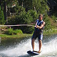 Standing on Wakeboard